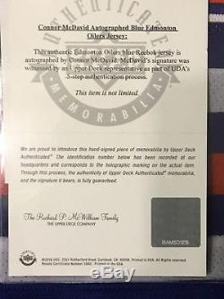 Maillot Authenic Reebok Autericic Bleu D'edmonton Oilers Bleu De Conner Mcdavid