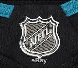 Maillot Authentique Adidas Authentic Noir Autographié Par Brent Burns San Jose Sharks
