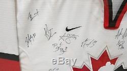 Maillot Autographié Wow Framed 2005 Équipe Canada Monde Juniors Rare