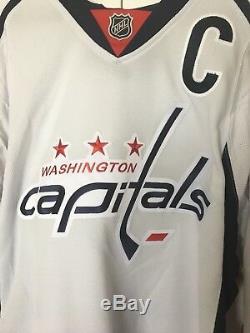 Maillot Blanc Reebok Alex Ovechkin Autographié Des Capitals De Washington