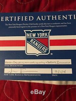 Maillot Camo Autographié Par Les Rangers De New York Mats Zuccarello