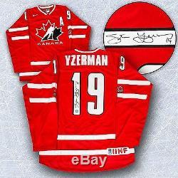 Maillot De Hockey Olympique Nike Autographié Par Steve Yzerman Par Équipe Canada