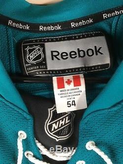 Maillot De Hockey Professionnel Autographié Par Brent Burns San Jose Sharks