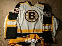 Maillot Pj Stock Authentic Bruins Autographié