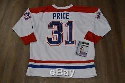 Maillot Signé Carey Price, Blanc, Canadiens De Montréal, Jsa Coa Wow