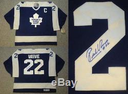 Maillot Vintage Des Maple Leafs De Toronto Rick Vaive Signé