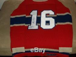 Maillot Vintage En Laine Signé Des Canadiens De Montréal Par Elmer Lach