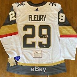 Marc Andre Fleury Signé Autographiés Golden Knights Adidas Jersey Fanatics Coa