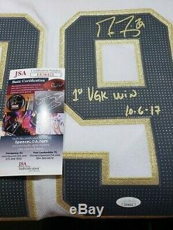 Marc-andré Fleury Chandail Autographié Autograph Golden Knights 1er Vgk Win Jsa Coa