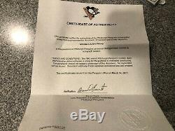 Marc-andré Fleury Chandail Autographié Officiel Des Penguins De Pittsburgh Tn-o Coa Taille XL