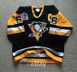 Mario Lemieux A Signé Jersey Penguins De Pittsburgh CCM Ultrafil Sz 52 Sangle De Combat