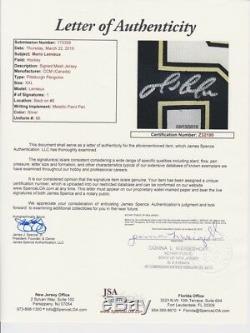 Mario Lemieux A Signé La Lettre Jsa Officielle Du CCM Des Pittsburgh Avec Signature Officielle
