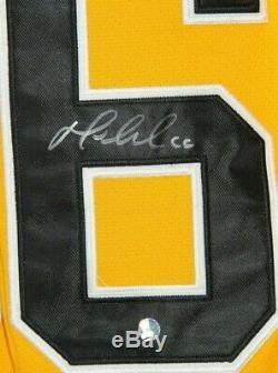 Mario Lemieux Penguins De Pittsburgh Autographié 1980-81 Coa Maillot Rétro