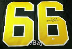 Mario Lemieux / Salle NHL Of Fame / Autographié Penguins De Pittsburgh / Coa