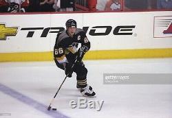 Mario Lemieux Signé Les Penguins De Pittsburgh Débutant Authentique Jersey Beckett Coa 52