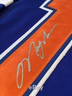 Mark Messier Autographié / Chandail Autographié Jsa Coa Oilers D'edmonton