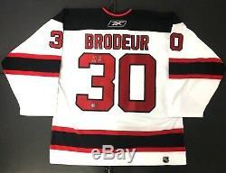 Martin Brodeur Chandail De Hockey # 30 Signé Par Les Devils Du New Jersey, Autographié Par Reebok XL