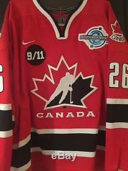 Martin St. Louis Maillot Coupe Du Monde De Hockey Nike 2004 Autographié Par Nike