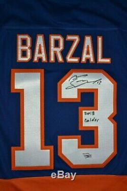 Mathew Barzal Maillot New York Islanders Autographié Et Signé Avec Inscription + Coa