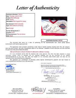 Maurice Richard Stan Mikita J Bower Autographe 6 Hof Sur Tous Le Jersey Star Jsa Coa