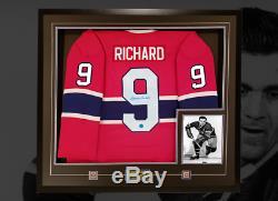 Maurice Rocket Richard Canadiens De Montréal Autographié Retro CCM Jersey Encadrée