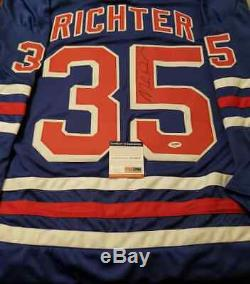 Mike Richter A Dédicacé Maillot Signé LNH Rangers De New York Psa Coa USA Olympiques