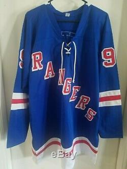 New York Rangers Signé Autographes Auto Jersey Wayne Gretzky Avec L'aco Kings Oilers