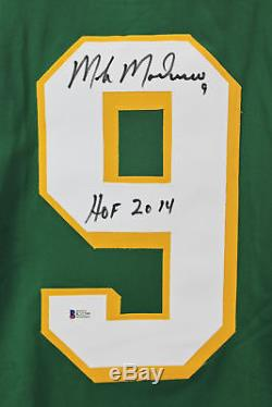 North Stars Mike Modano Hof 2014 Authentique Maillot Vert Signé Bas Témoin