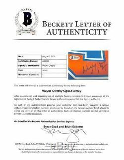 Oilers Wayne Gretzky Authentique Signé Jersey Bleu Autographié Bas # A88358