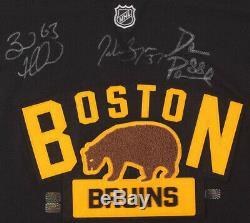 Patrice Bergeron David Pastrňák Brad Marchand Des Bruins De Boston Jersey Signé
