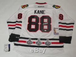 Patrick Kane - Jersey Commémoratif De La Coupe Stanley Des Blackhawks De Chicago - Jsa Coa