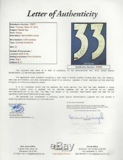 Patrick Roy Colorado Avalanche Jersey Auto Signé Jsa Lettre Y92384 (jsy24)
