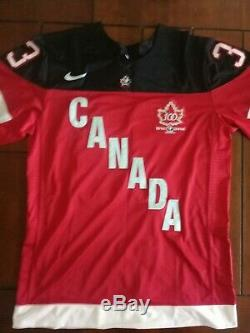 Patrick Roy Maillot De Hockey Signé Équipe Canada Coa Taille XL