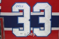 Patrick Roy Signé Canadiens 35,5 X 43,5 Maillot Personnalisé (jsa Coa)