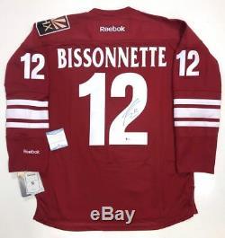 Paul Bissonnette Jersey Phoenix Coyotes Rbk Signé Beckett Coa Spittin Chiclets