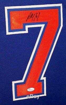 Paul Coffey Oilers Signé 35x43 Jersey Encadrée Sur Mesure (jsa) NHL Hall Of Fame 2004