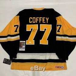 Paul Coffey Signé CCM 1991 Coupe Stanley Penguins De Pittsburgh Jsa Coa