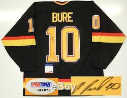 Pavel Bure A Signé Le Maillot Psa / Dna Coa De La Coupe Stanley Des Canucks De Vancouver De La Coupe Stanley De 1994