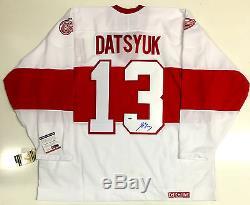 Pavel Datsyuk Maillot Psa / Dna Coa Classique D'hiver De Detroit Red Wings Hiver Signé