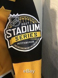 Penguins De Pittsburgh Sidney Crosby Autographié Jersey Avec Coa. Cadre Non Compris