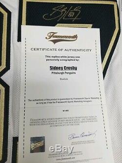 Penguins-sidney Crosby Maillot Autorisé Et Signé De La LNH Avec Frameworth Coa