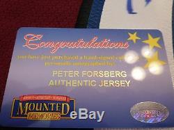 Peter Forsberg A Signé Authentic Hockey Jersey Avec Coa En Excellent État