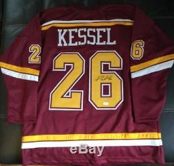 Phil Kessel Signé Minnesota Golden Gophers Jersey Tse Coa