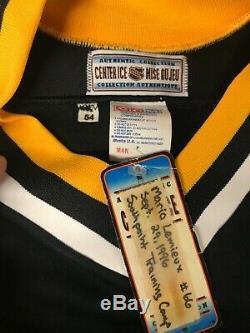 Pittsburgh Penguins Mario Lemieux Noir Jersey Livraison Gratuite Taille 54