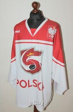 Pologne Correspondance Porté Le Maillot National Maillot De L'équipe De Hockey Sur Glace # 16 Malasinski Taille XXL