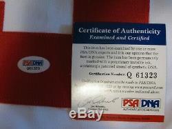 Psa Adn Red Wings De Detroit Maillot De Hockey Signé Gordie Howe Autographe Cof