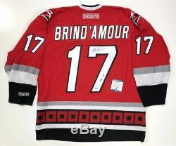 Rod Brind'amour Signé 2006 Coupe Stanley Hurricanes De La Caroline Jersey Beckett Coa
