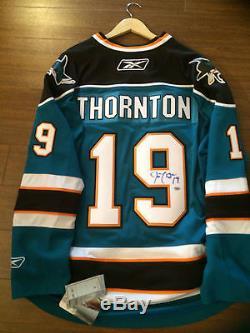San Jose Sharks Joe Thornton Maillot Autographié Neuf Avec Étiquettes