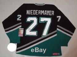 Scott Niedermayer - Maillot Vintage Anaheim Mighty Ducks Signé - Licencié