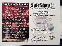 Sidney Crosby Auto Signé Authentique Pingouins Jersey 2008 Hiver Classique